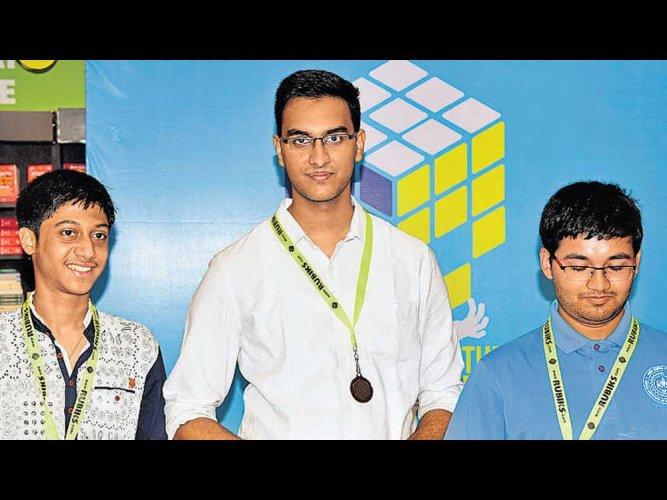 Chennai boy clinches  rubix cube championship