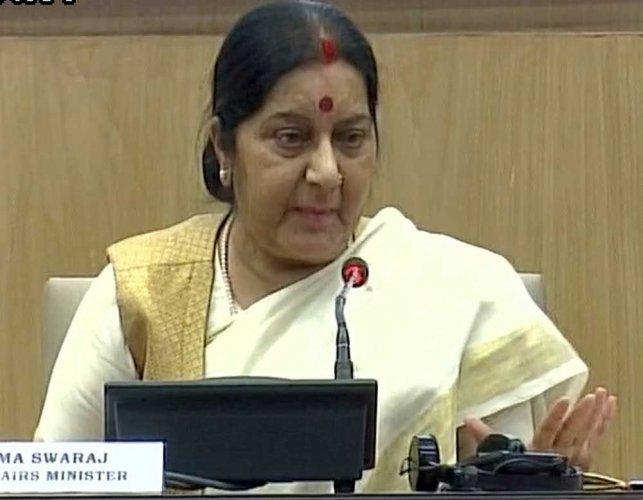 No Modi-Sharif meeting in Astana; ICJ has no role in Kashmir row: Swaraj