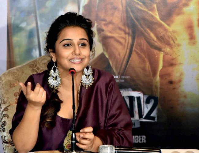 Vidya lends support to campaign against gender violence