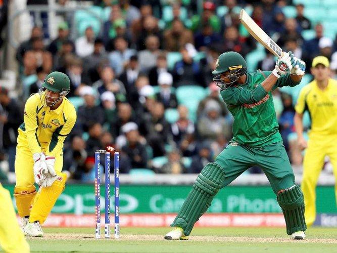 Bangladesh 182 all out against Australia