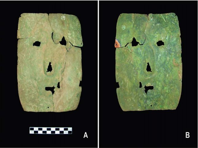 3000-year-old copper mask discovered