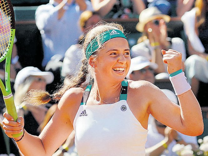 Ostapenko sets up Halep date in final