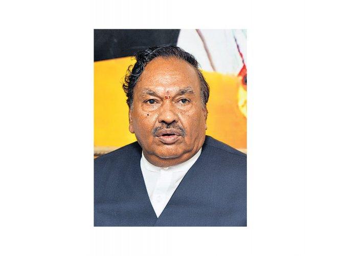 Complaint to ED demands probe into Eshwarappa's 'benami' assets