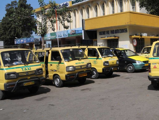 Permission for prepaid taxi stand at rail stn withdrawn