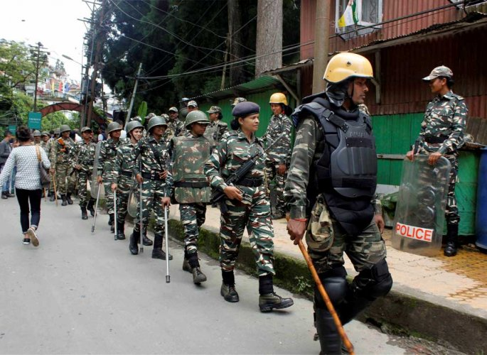 GJM supporters pelt stones at police on day 2 of bandh in Darjeeling