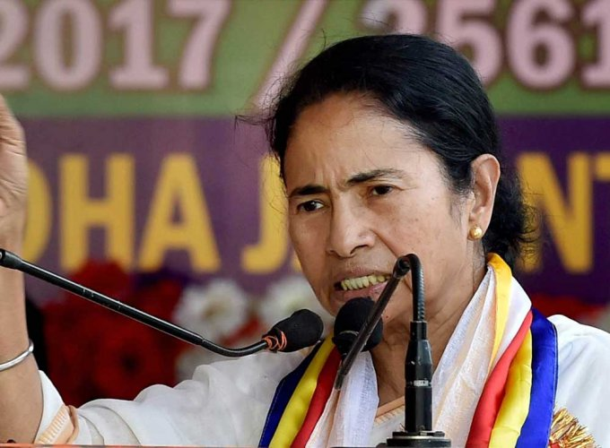 Mamata slams Centre for making Aadhaar must for bank A/cs