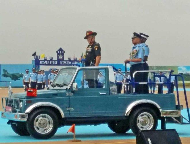Bipin Rawat reviews IAF combined graduation parade in Dundigal