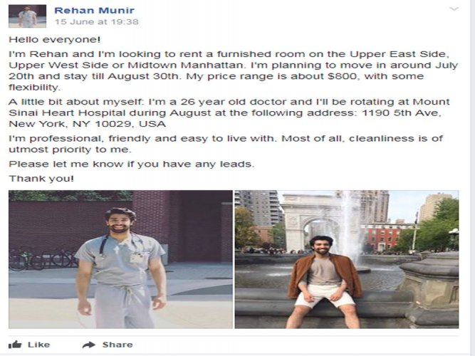 Pakistani doctor's New York house hunt goes viral