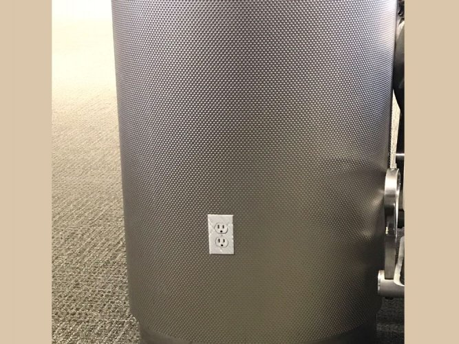 Man pranks people with power outlet stickers