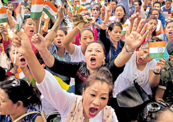 WB: Internet still suspended, GJM activists take out protest march