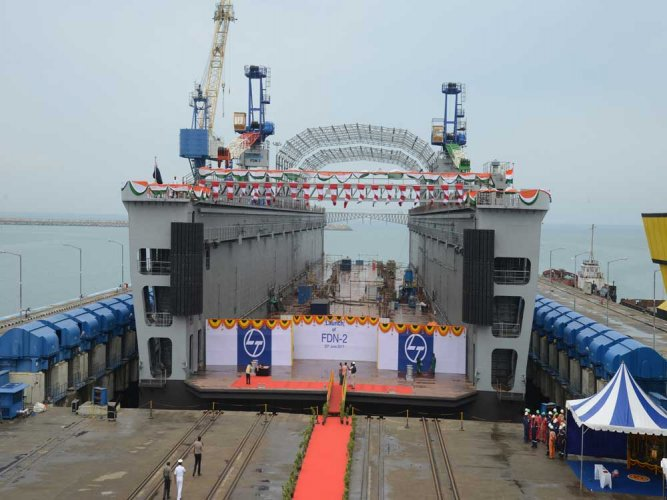 Indian Navy gets high-tech floating dock from L&T