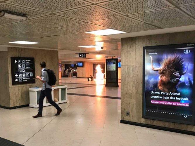 Soldiers shoot attacker in Brussels 'terrorist' blast