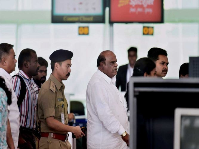 Karnan sent to jail, complains of chest pain