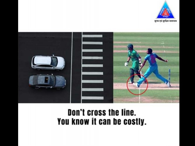 Jaipur police uses Bumrah's infamous 'no ball' for road safety awareness!