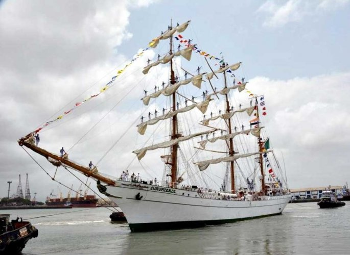 Mexican sail ship in Mumbai