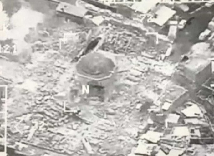 Islamic State blows up historic Mosul mosque where it declared 'caliphate'