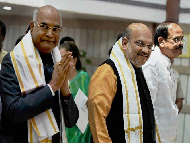 Prez post above party politics: Kovind after filing nomination