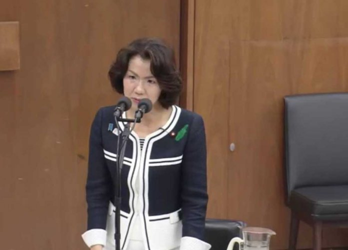 Female Japanese politician resigns after attacking male aide