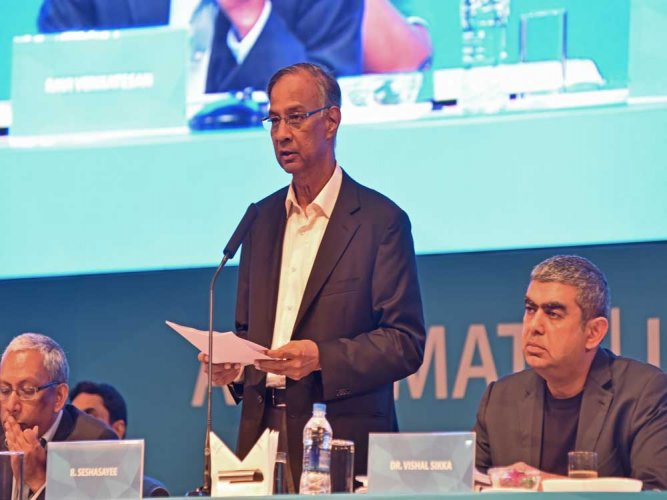 Infosys chairman Seshasayee to retire in May 2018