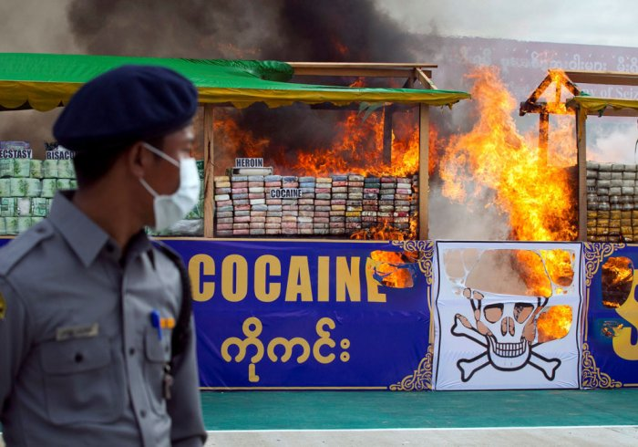 Myanmar and Thailand torch $1 billion of seized drugs