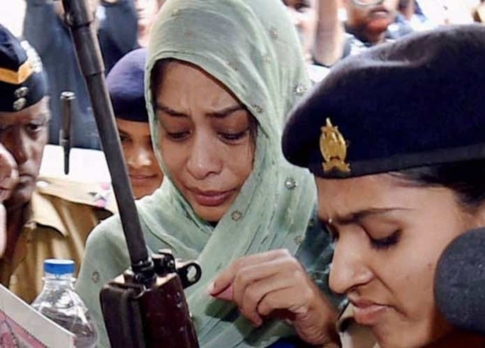 Indrani among 200 booked for rioting in jail post convict's death