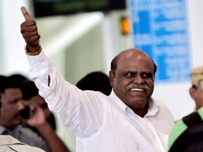 Ex-HC judge Karnan petitions Governor for bail or parole