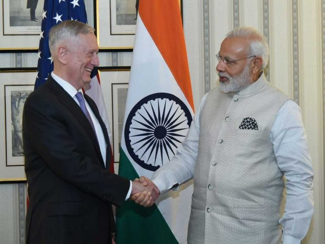 US Defence Secretary calls on Prime Minister Modi
