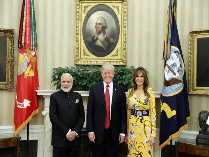 Modi meets US President Donald Trump at White House