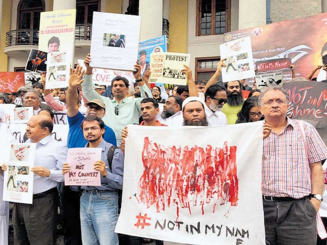 Protest condemns lynching incidents