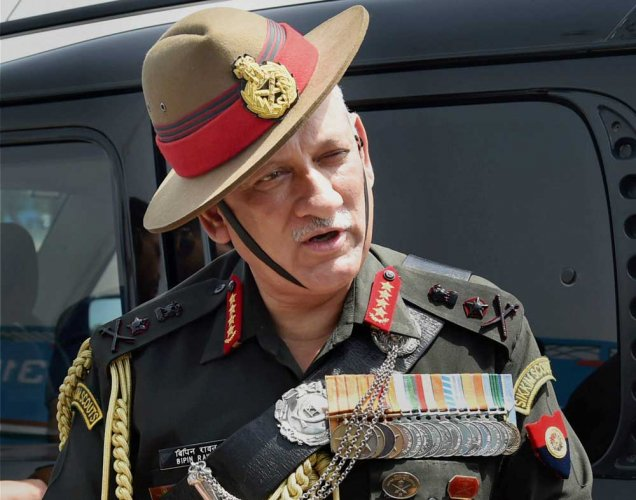 Army chief Gen Rawat to visit N-E today