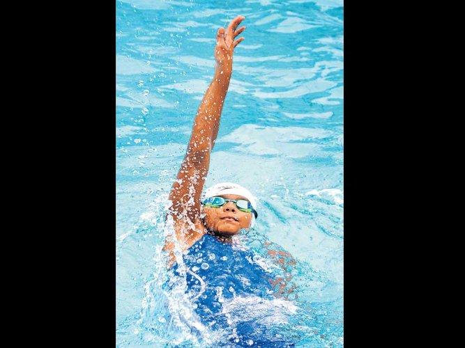 Ridhima sizzles for Karnataka