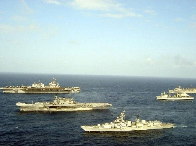 India, Japan and USA to hold naval exercise next week