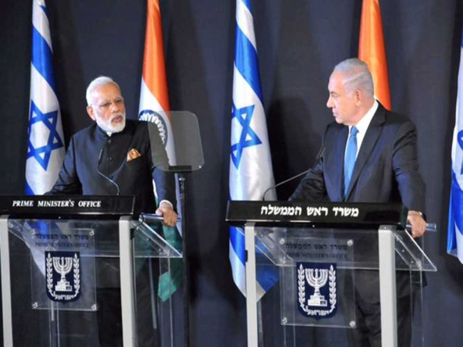 India, Israel ink 7 pacts during Modi's historic visit