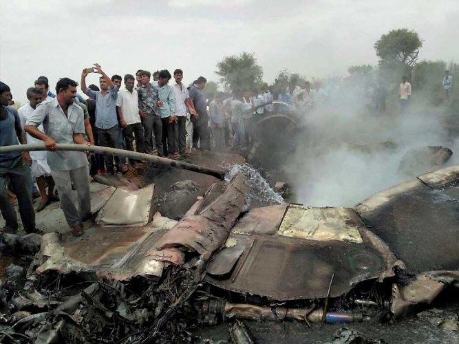Indian Air Force's  MIG-23 training aircraft crashes near Jodhpur