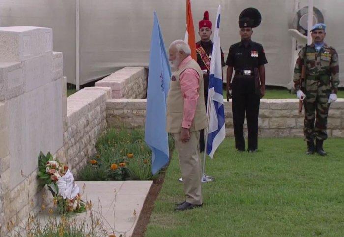 PM Modi visits Haifa, pays homage to Indian World War I heroes