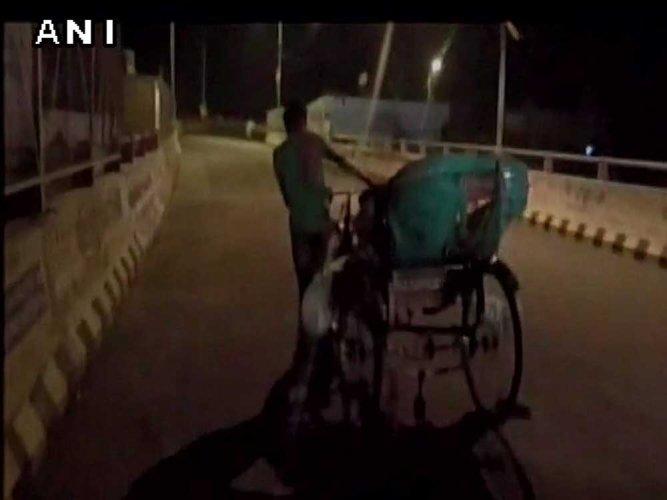Denied ambulance, family carries body on rickshaw
