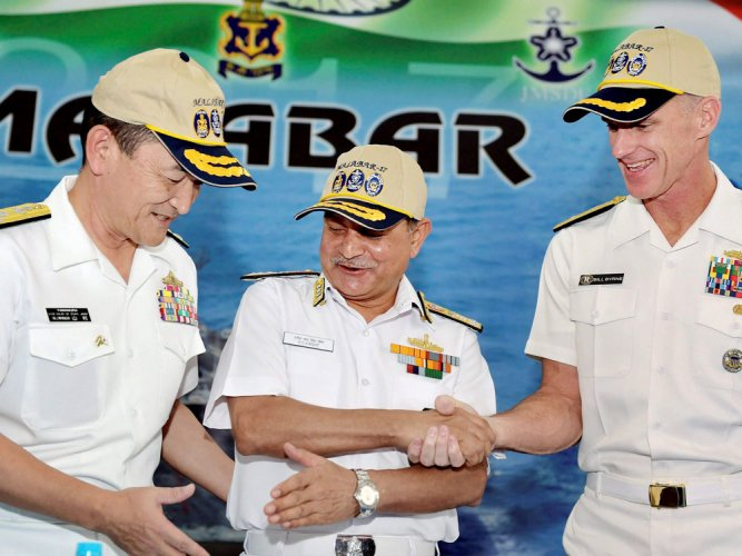 Indo-US-Japan joint naval exercise begins in Bay of Bengal