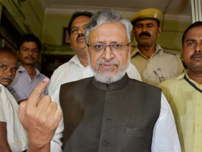 Tejaswi was adult when he became owner of land: Sushil Modi