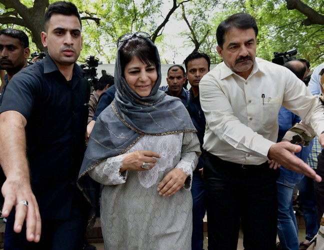 Mehbooba points finger at China for troubles in Kashmir