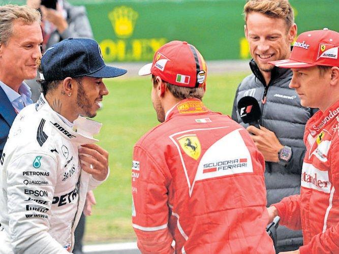 Hamilton takes pole at home event