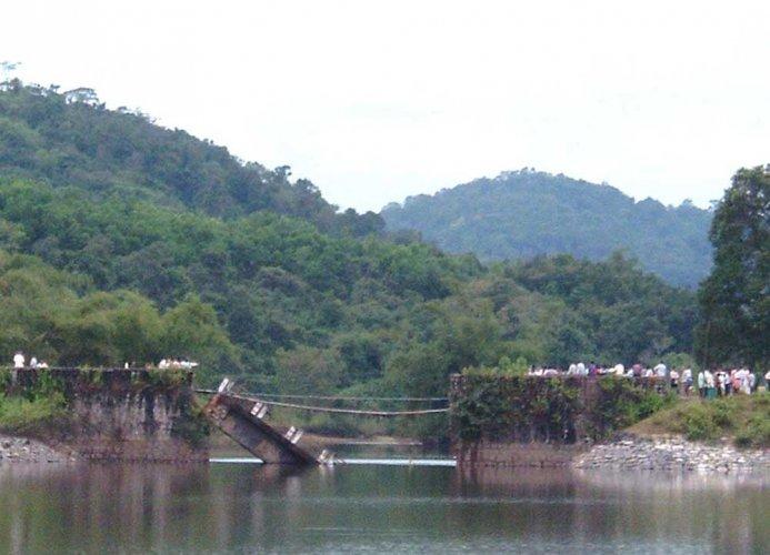 Manipur cut off as crucial Barak Bridge collapses