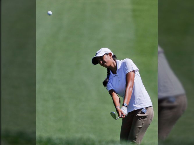 Eyeing spot in British Open, Aditi adds solid 68 to lie sixth