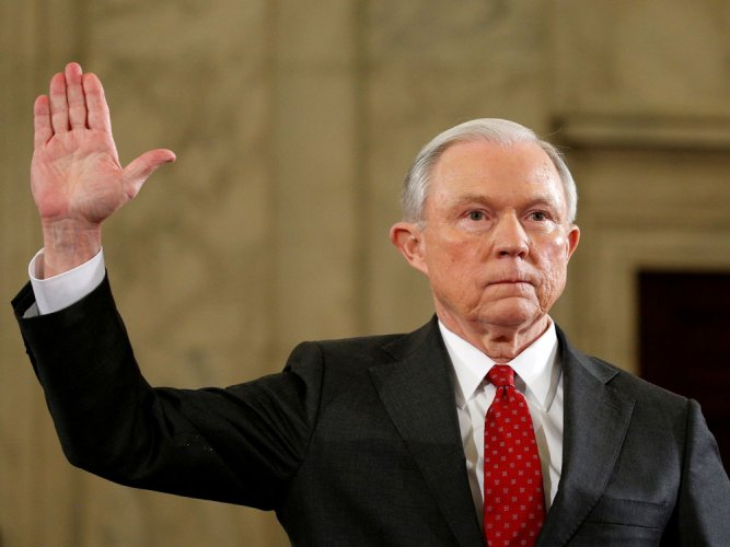 Trump asks about firing Sessions, calls his position 'weak'