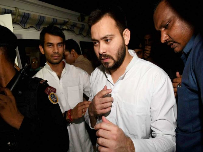 Tejashwi meets Bihar guv, says will move court against his decision