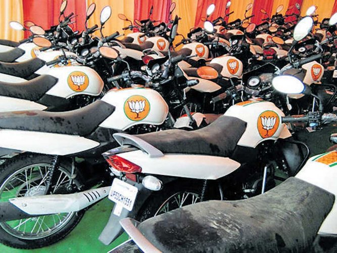 BJPgets motorbikes used in UP campaign for Karnataka polls
