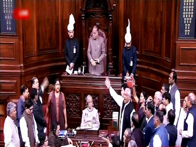 Congress raises MLA poaching issue in RS; BJP hits back