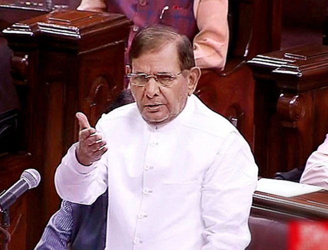 End of grand alliance in Bihar very unpleasant: Sharad Yadav