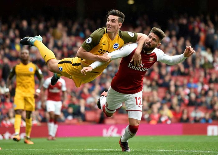 Arsenal power past Brighton