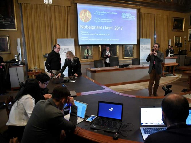 Dubochet, Frank, Henderson win 2017 Nobel Chemistry Prize