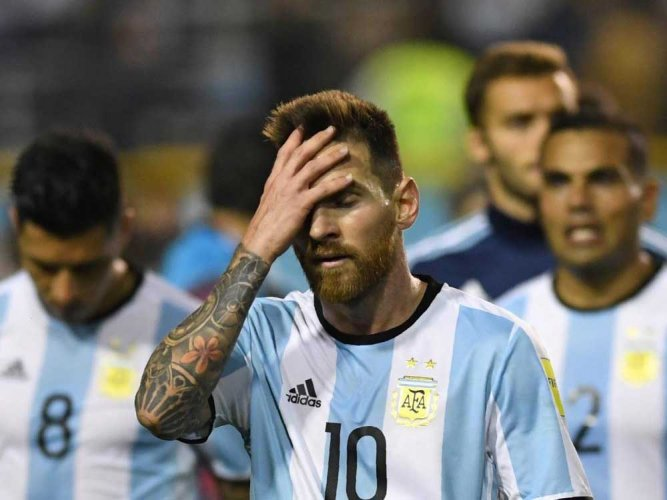 Argentina's World Cup hopes take big hit